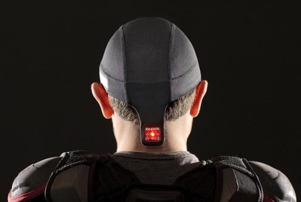 The CheckLight indicator is at the base of the skullcap.