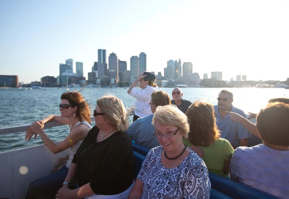 Harbor Islands visitors rode the ferry in 2012.