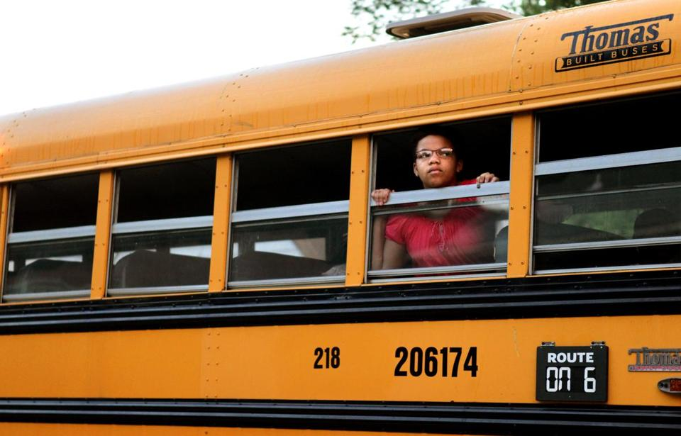Nearly 2,600 students from unaccredited school districts in St. Louis County are leaving for better-performing schools after the state Supreme Court upheld such busing.