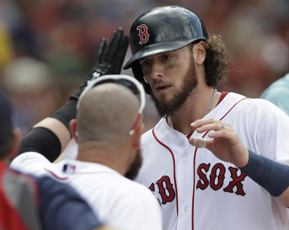 Jarrod Saltalamacchia was third in the American League in innings caught entering Friday's game at Kansas City.