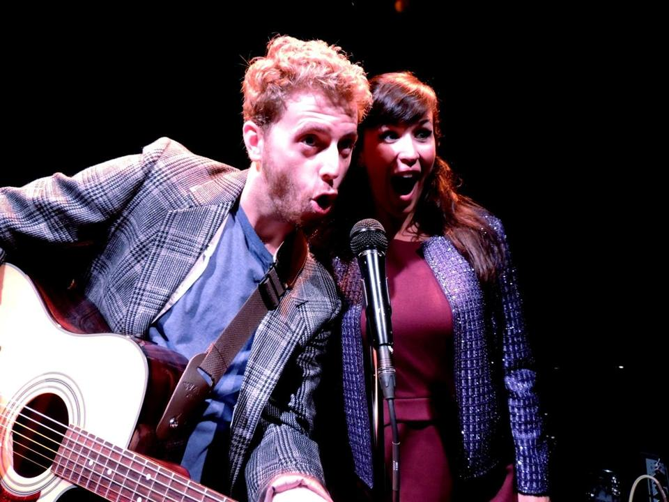 "Michael Levesque and Ashley Korolewski as aspiring Scottish singers in ""Rooms: A Rock Romance."""