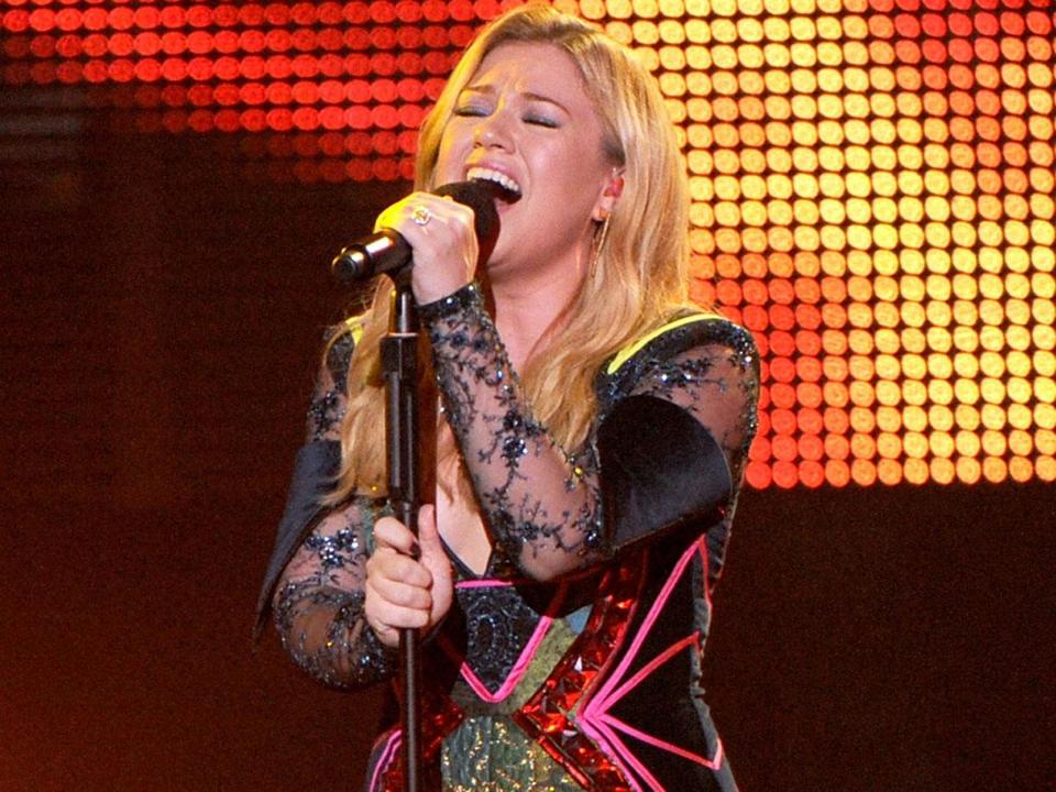 Kelly Clarkson, pictured in Los Angeles last year, had energy to spare in Mansfield.