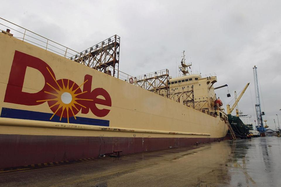 A Dole vessel anchored in Ecuador. Dole CEO David Murdock is offering $13.50 per share for the company.