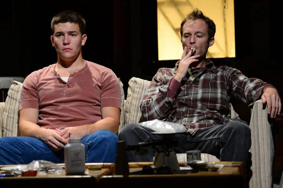 "Jimi Stanton as Dennis (left) and Alex Pollock as Warren in Kenneth Lonergan's ""This Is Our Youth.''"