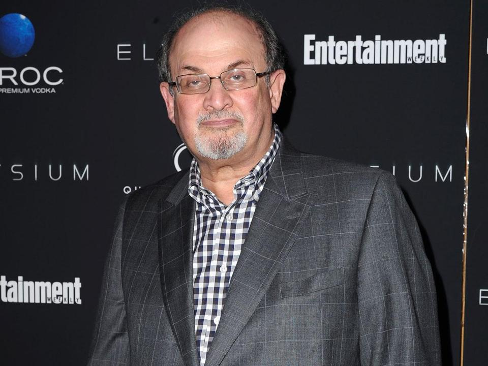 "Author Salman Rushdie (pictured here in New York last month), whose novel ""Midnight's Children'' was made into a movie this year, will be the Boston Book Festival's keynote speaker."