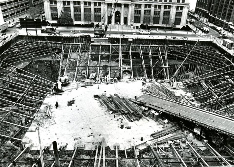 Oct. 25, 1969: The Hub's biggest hole in the ground in 1969 was the Hancock foundation in Copley Square.