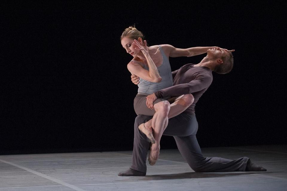 "Wendy Whelan and Joshua Beamish perform his ""Waltz Epoca"" during the ""Restless Creature'' program at Jacob's Pillow."