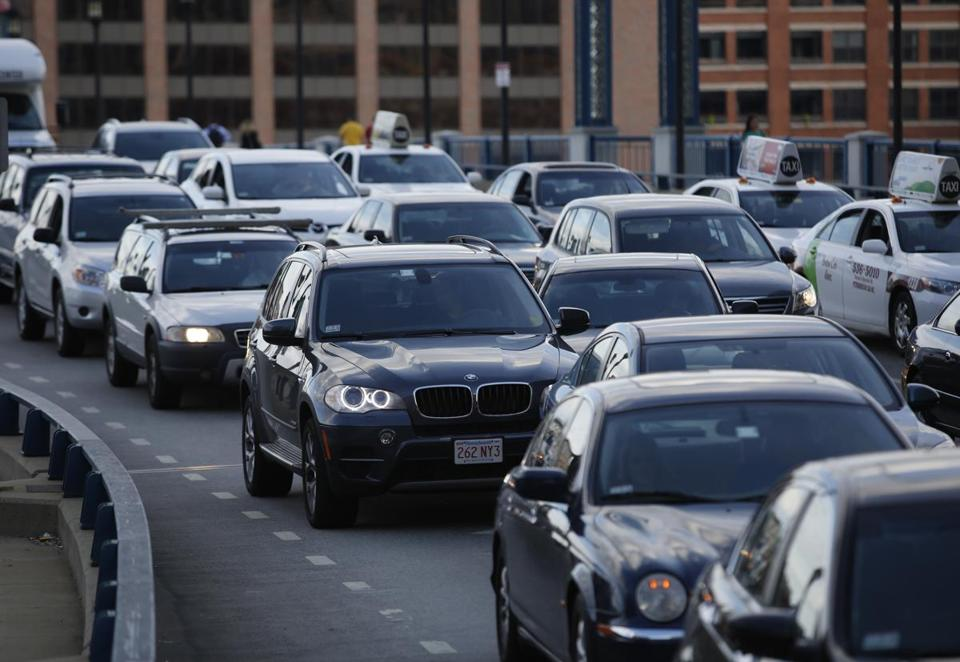 Traffic routinely backs up on Northern Avenue in the Seaport District during rush hours.