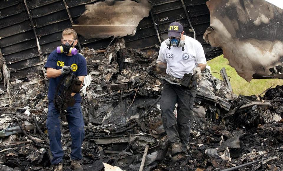 Inspectors recovered the flight data recorders Thursday  from the scene of the crash of UPS plane in Alabama.