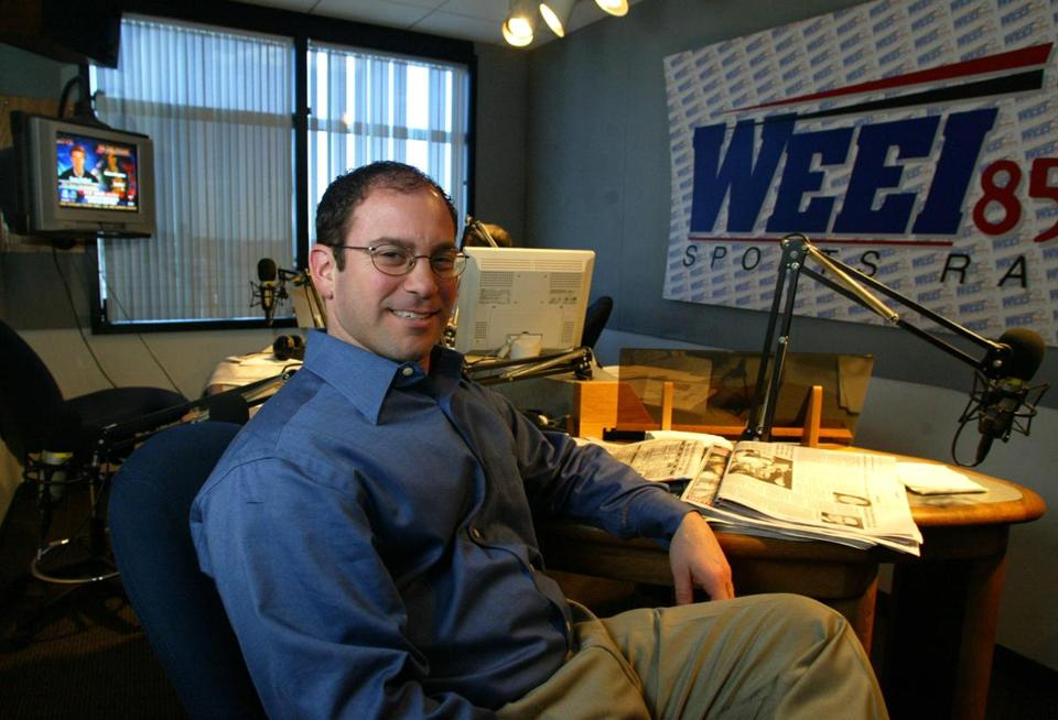 Jason Wolfe was photographed in the WEEI studios in this file photo.