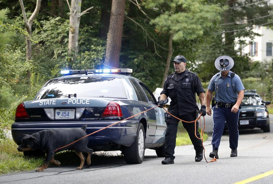 State Police and local officers, including a K-9 unit, investigated the Middleton shootings.