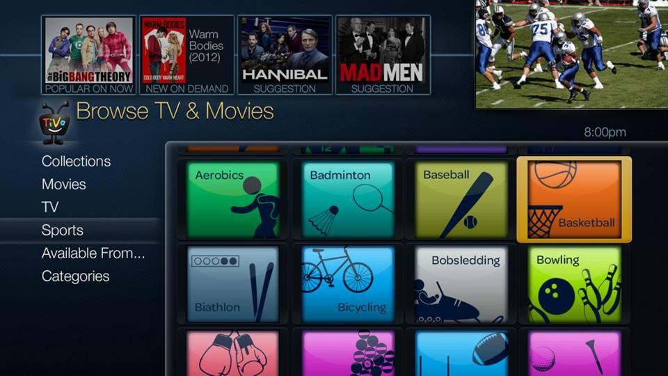 TiVo faces lots of rivals: Cable and satellite TV companies' DVR offerings, Roku, Apple TV, and Chromecast.