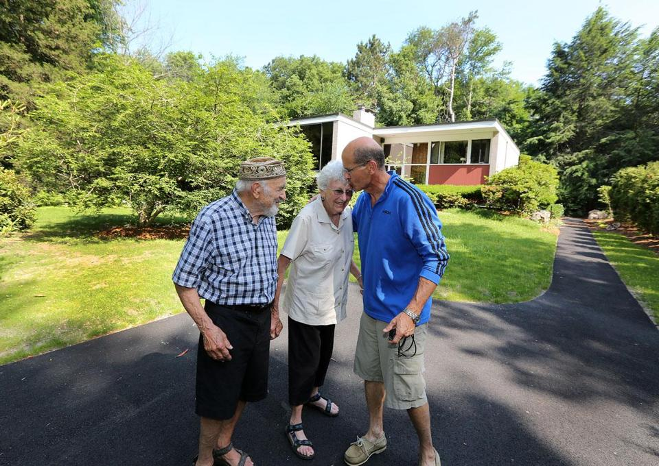 Sam and Vivian Berman moved into Five Fields in Lexington 61 years ago; their son David now lives next door.