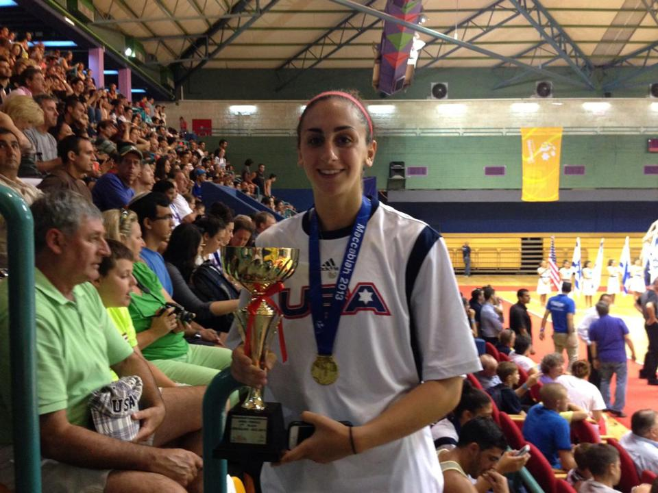 Lauren Battista won gold at the Maccabiah Games.
