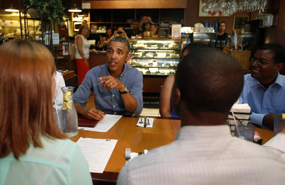 President Obama met Thursday with students, parents, and educators to discuss education in Rochester, N.Y.