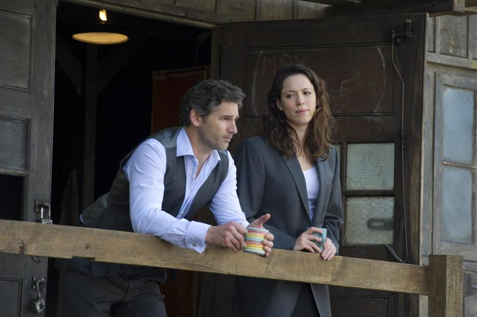 "Eric Bana and Rebecca Hall star in the British political thriller  ""Closed Circuit."""