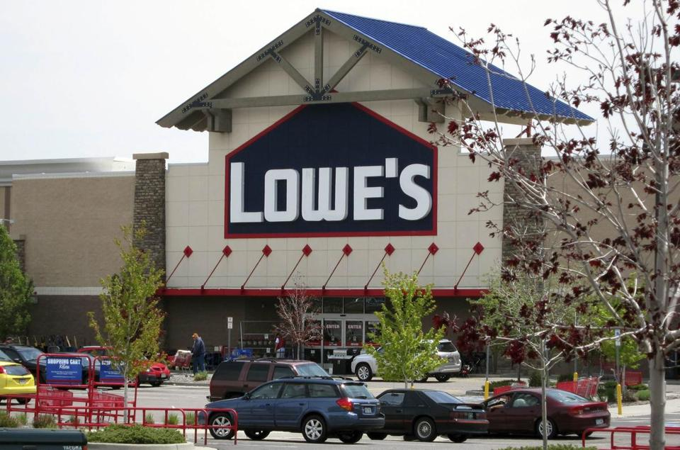 Lowe's raised its full-year forecast to $2.10 a share, up from $2.05.