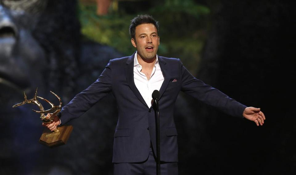 "Actor/director Ben Affleck accepted the Guy of the Year award at the Spike TV's ""Guys Choice"" awards on June 8."