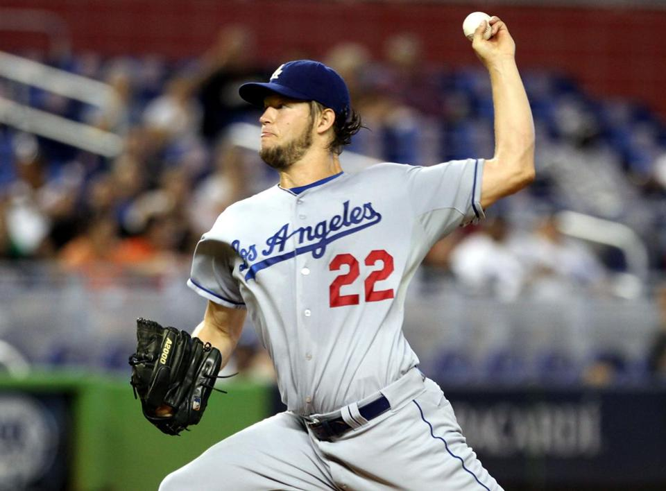 Dodgers pitcher Clayton Kershaw allowed five hits in Thursday's outing against the Marlins in Miami.