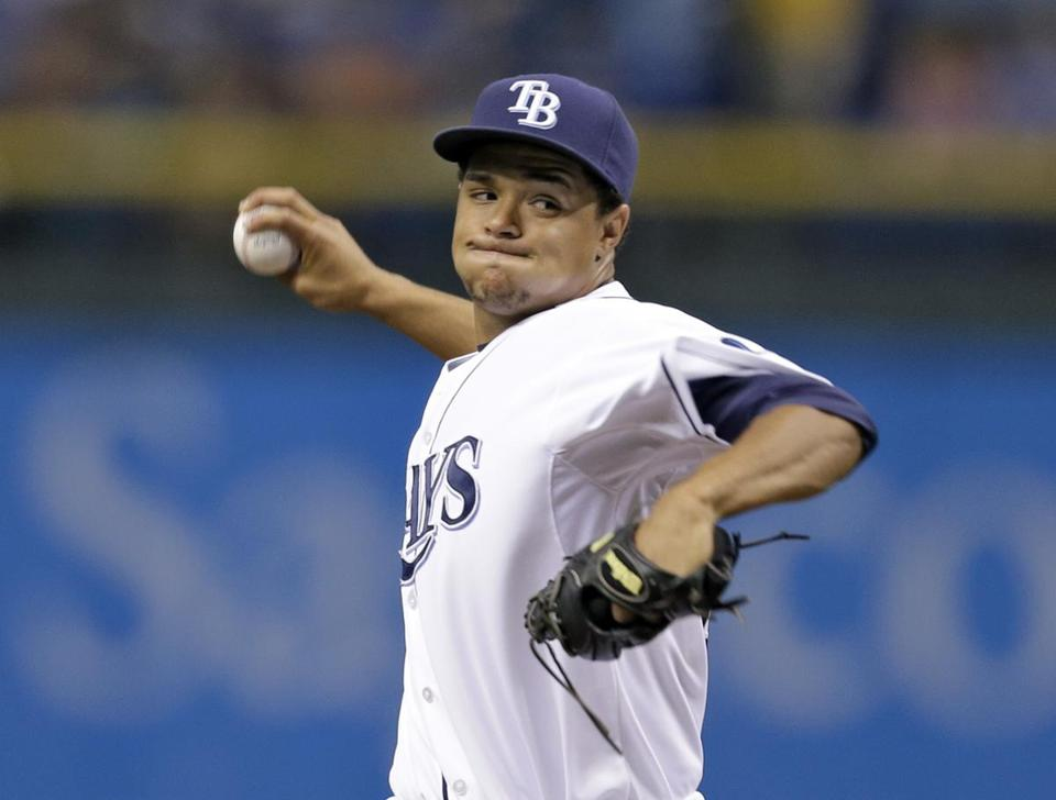 Rays pitcher Chris Archer delivered a pitch during Friday's game.