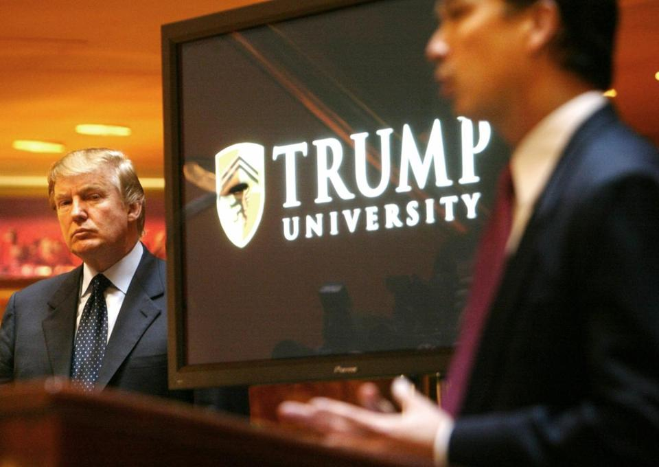 Donald Trump, who opened Trump University in 2005, is accused of promising valuable real estate expertise, but instead charging up to $35,000 for substandard instruction.