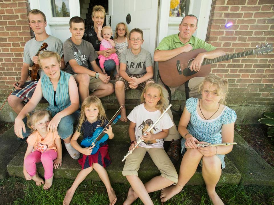 Five of the 10 children in the Nadeau family suffer from hearing loss, which whole-genome sequencing linked to a specific DNA deletion.