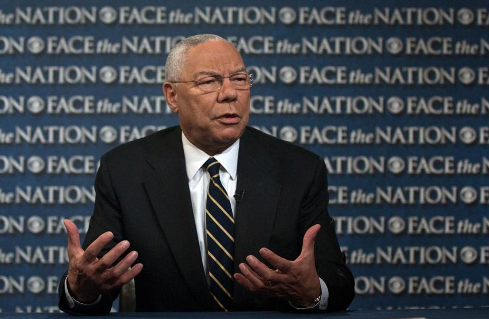 """For the president to speak out on it is appropriate,"" said Colin Powell. ""I think all leaders, black and white, should speak out on this issue."""