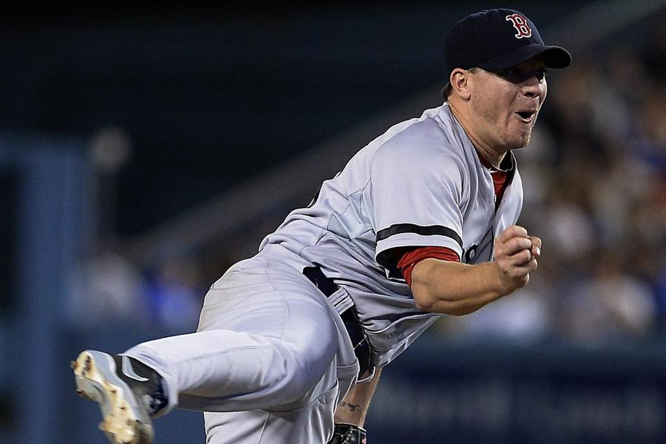 Boston's Jake Peavy, who has made it a habit of dominating the Dodgers, did so again, firing a three-hitter.