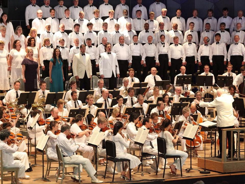The Boston Symphony Orchestra, with Bernard Haitink on the podium, performing Sunday, the final day of the BSO's season at Tanglewood.