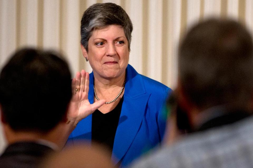 "Janet Napolitano offered this advice to whoever succeeds her: ""You will need a large bottle of Advil."""