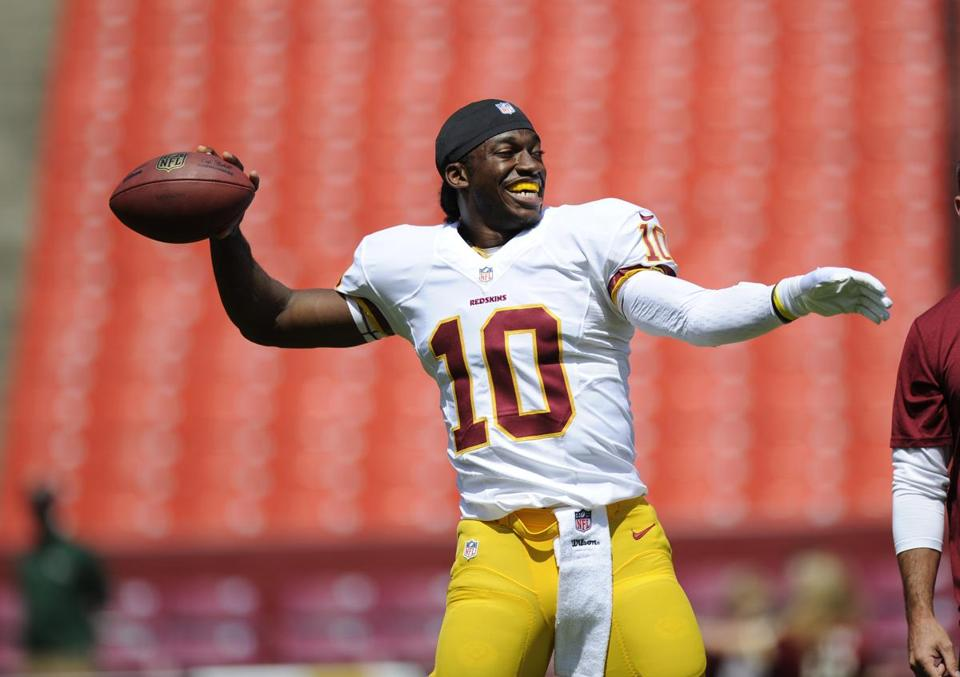 The Redskins' Robert Griffin III looks as if he could get the OK for the season opener.