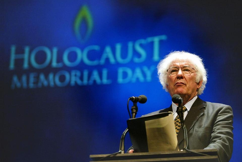 The Northern Irish poet Seamus Heaney, 74, won the Nobel literature prize in 1995.