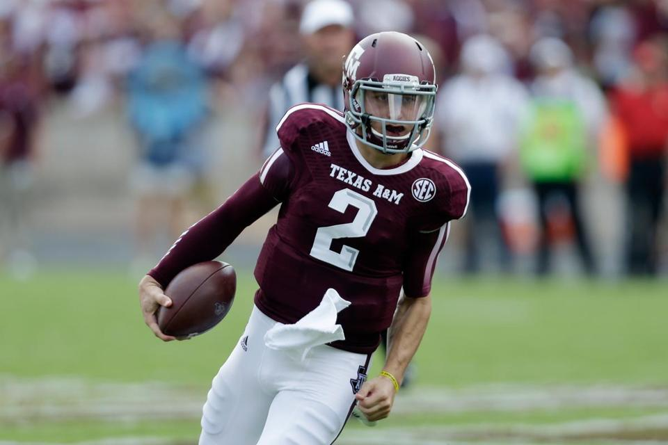 Johnny Manziel came in on Texas A&M's first offensive series of the second half.
