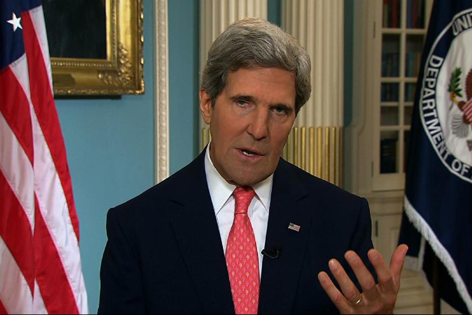 Secretary of State John Kerry campaigned for the military action on five morning talk shows.