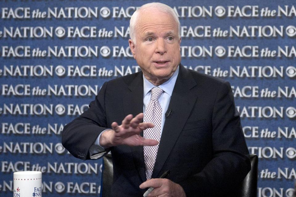 Senator John McCain wants broader steps but signaled he would back a strike.