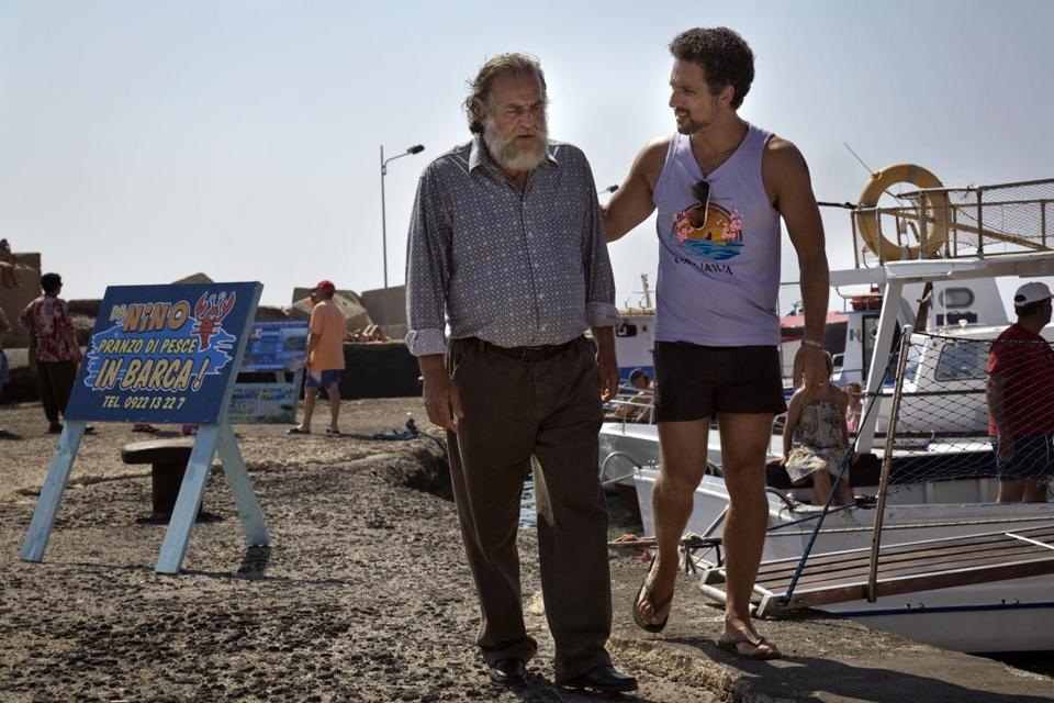"Mimmo Cuticchio (left) and Giuseppe Fiorello play an old-style fisherman and a new-style entrepreneur in ""Terraferma."""