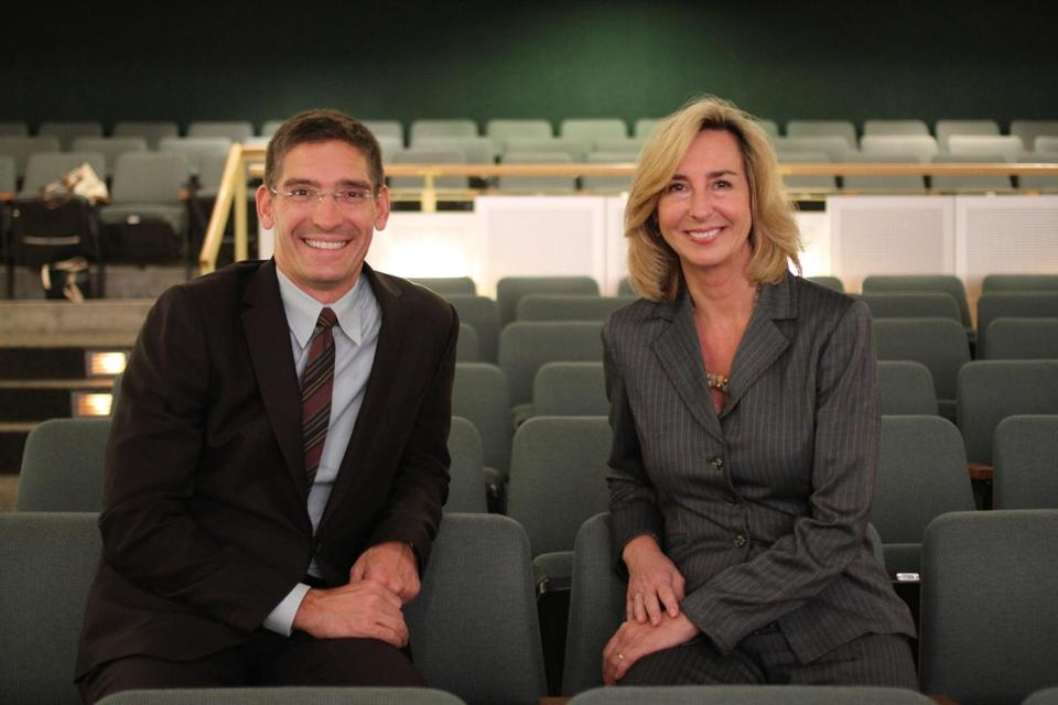 Steven Maler and Kerry Healey at Babson College.