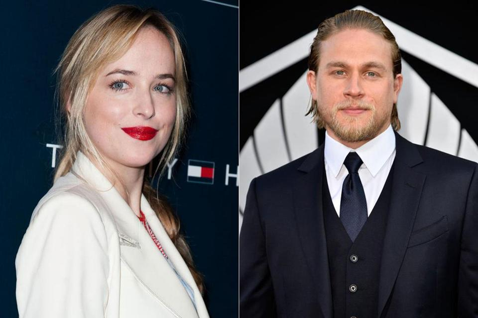From left, Dakota Johnson and Charlie Hunnam.
