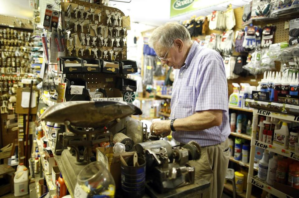 """It has been difficult to maintain the business,"" says third-generation owner David Masse, 73, of FX Masse Hardware Co."