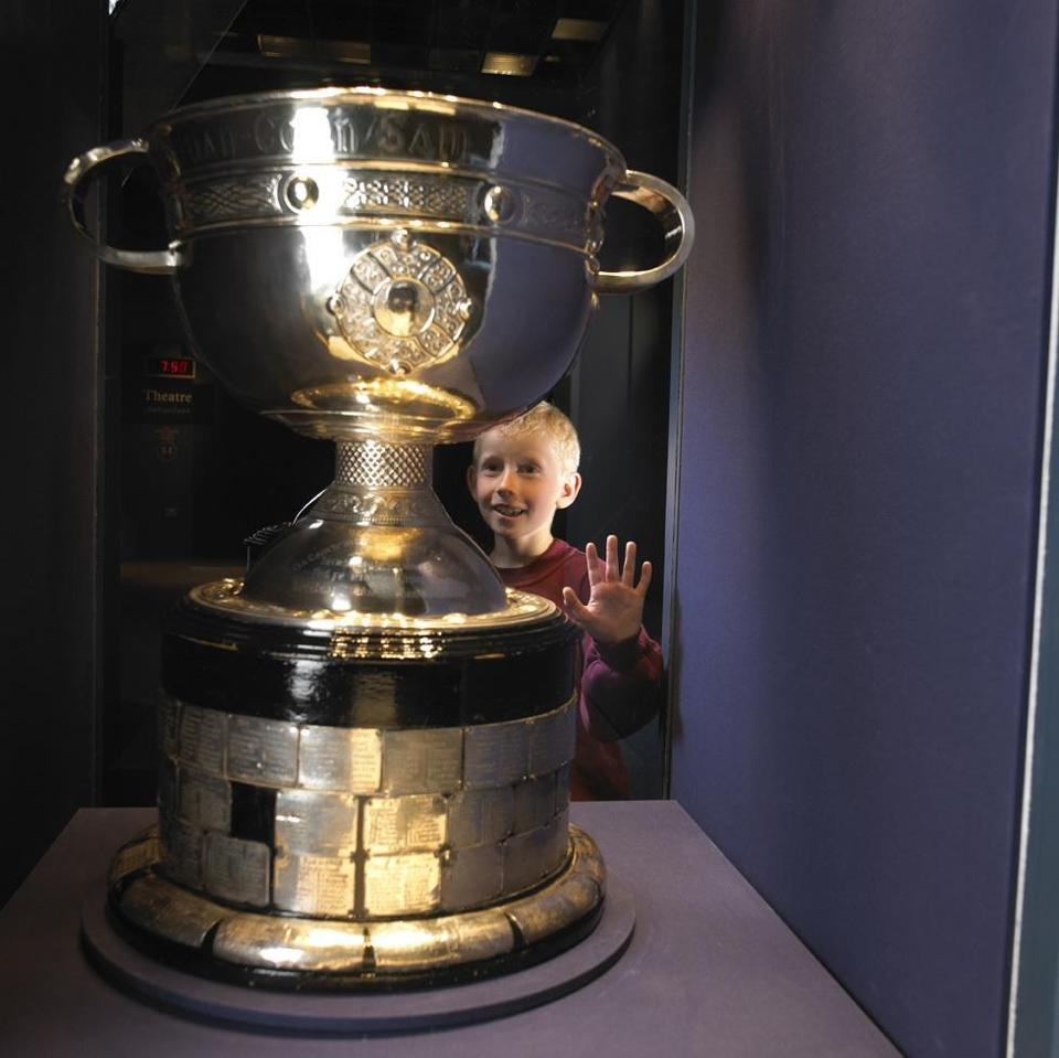 Croke Park's GAA Museum has the All-Ire-land Senior Football Championships cup.