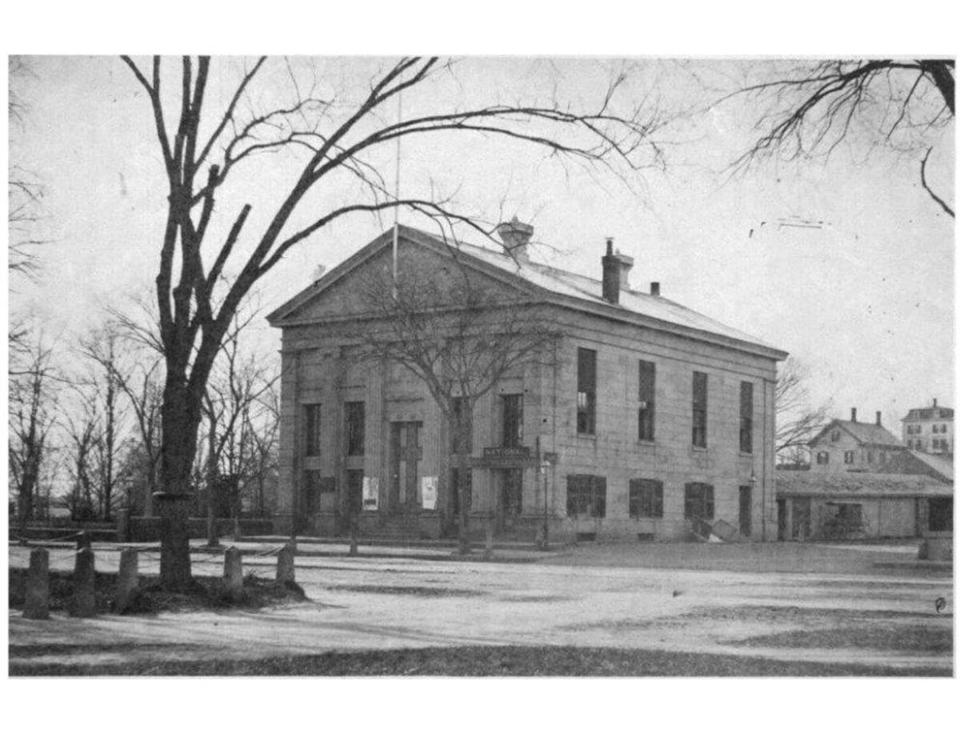 An 1875 photograph of Quincy's Old City Hall building, which is to be renovated by autumn 2014.