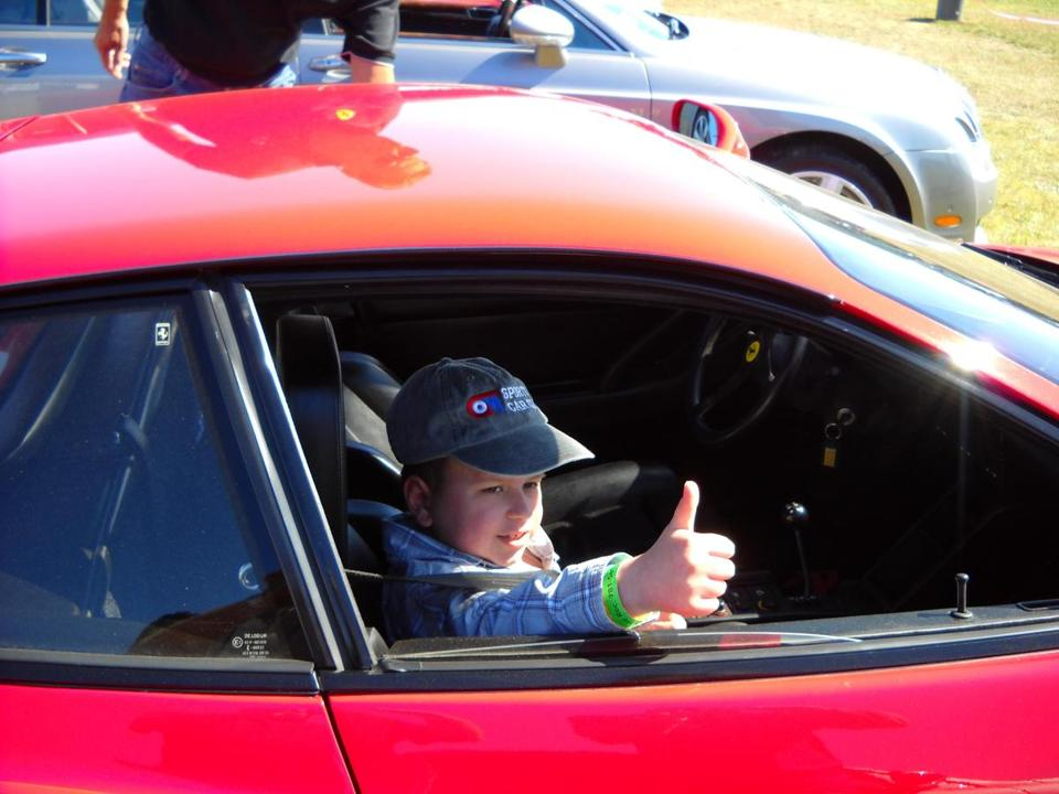 In 2009, Ricky Hoffman got a ride in a Ferrari Testarossa at the Cars and 'Copters show.