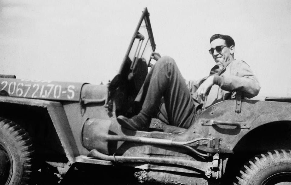 J.D. Salinger during the liberation of Paris in 1944.  The author's service in WWII is examined in a new documentary.
