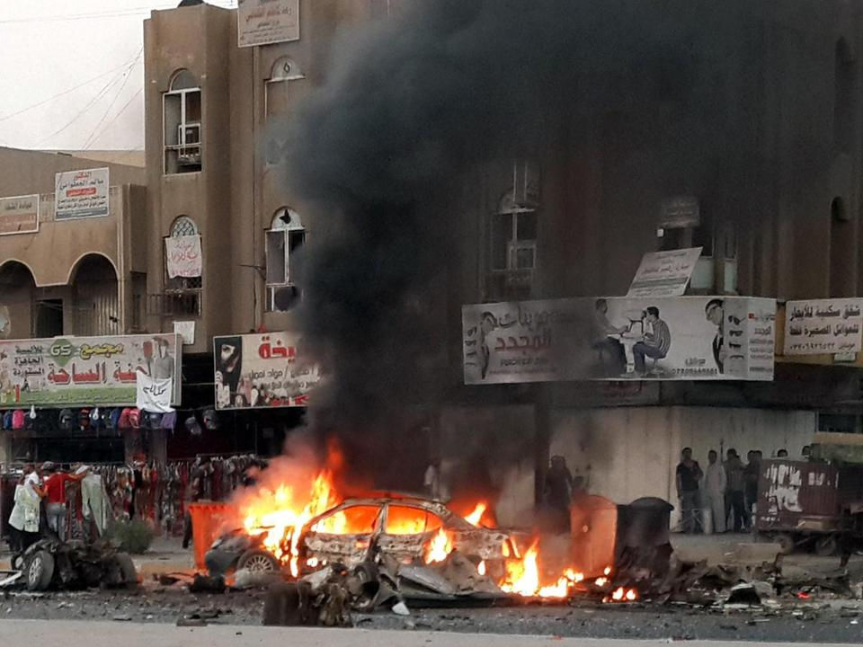 In Baghdad, a car bomb hit a row of restaurants in the largely Shi'ite neighborhood of Talibiyah, killing seven.