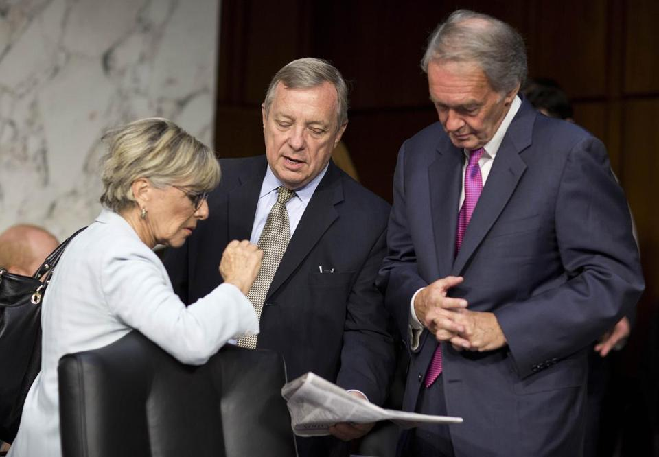 Barbara Boxer, Dick Durbin, and Edward Markey discussed Syria at a Senate Foreign Relations Committee hearing.