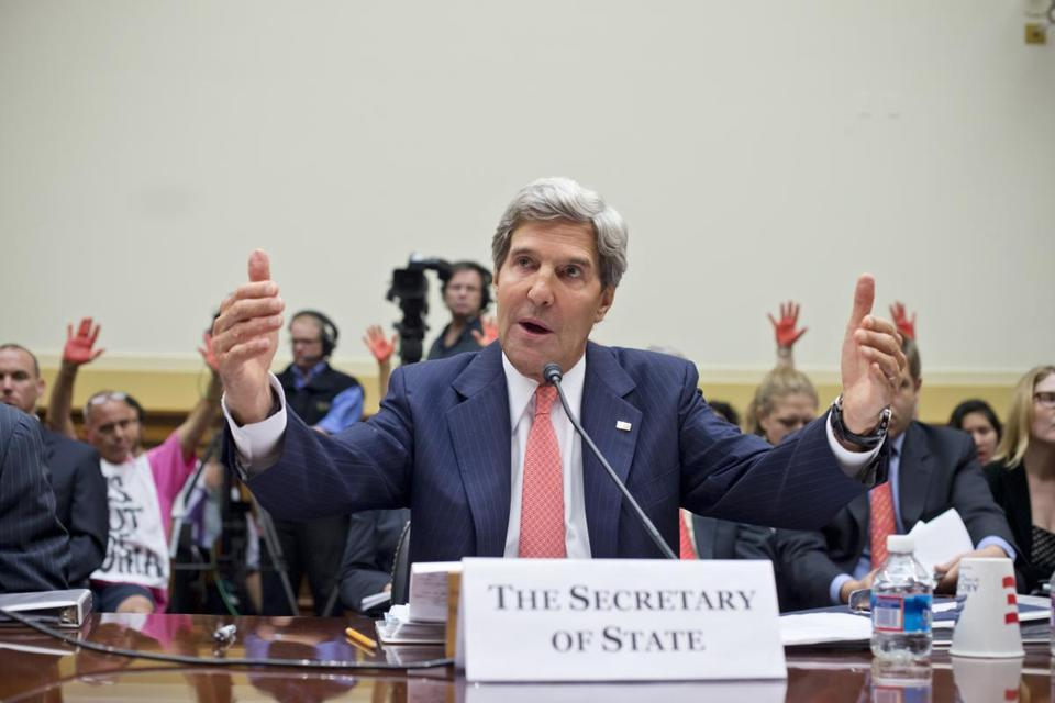 Secretary of State John Kerry testified before the House Foreign Affairs Committee on Wednesday.