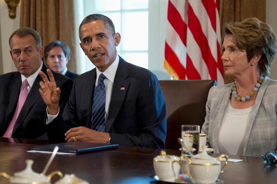President Obama got the backing of John Boehner and Nancy Pelosi for limited strikes.
