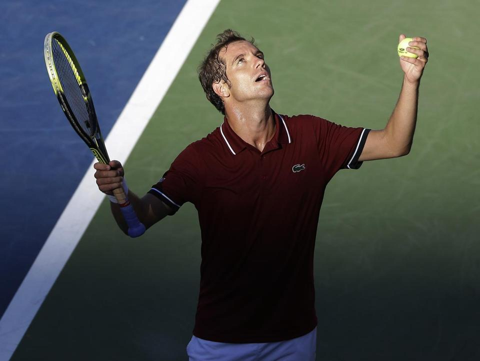 Richard Gasquet of France beat David Ferrer of Spain to reach his first Grand Slam semifinal since Wimbledon in 2007.