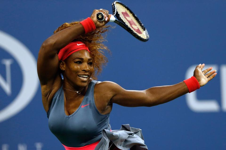 "Serena Williams's 6-0, 6-0 victory was the first ""double bagel"" in a quarterfinal at Flushing Meadows since 1989."