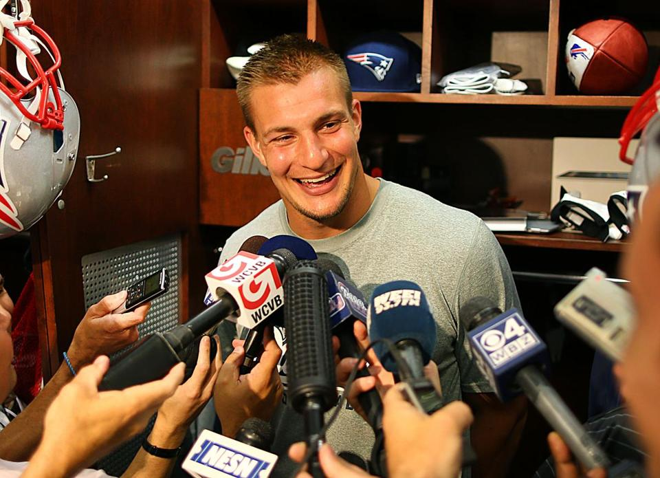 "Tight end Rob Gronkowski: ""When my number's called, that's when I'll play."""